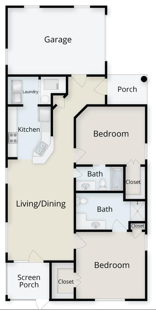 Two Bedroom Villa Floor Plan